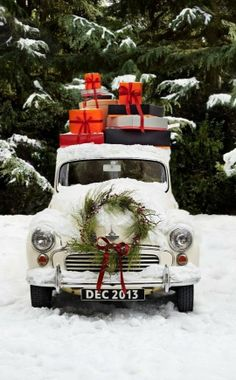 Country Christmas...maybe next year the truck will be ready to decorate again!