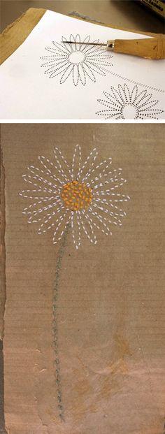 El hada de papel: Carta de flores / Flower letter / Blumen Brief