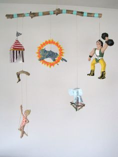 Mobile Circus RESERVED for UB por jikits en Etsy