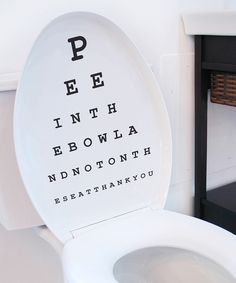 Look at this #zulilyfind! Toilet Seat Eyechart Decal by looksugar* #zulilyfinds
