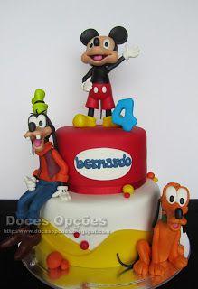 Doces Opções: Mickey e amigos no aniversário do Bernardo