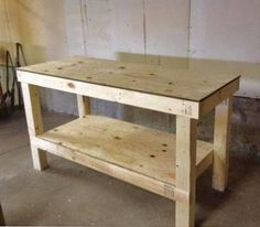 1600 wood plans - Easy DIY Garage Workshop Workbench Woodworking Drawings - Get A Lifetime Of Project Ideas and Inspiration! Making A Workbench, Workbench Plans Diy, Building A Workbench, Folding Workbench, Workbench Stool, Industrial Workbench, Workbench Organization, Heavy Duty Workbench, Paulk Workbench