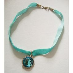 FAUX STONE CHOKER -blue, turquoise, pastel goth, 90s, festival,... ($9.45) ❤ liked on Polyvore featuring jewelry, necklaces, choker necklace, rhinestone choker, rhinestone necklace, turquoise stone necklace and pastel goth necklace