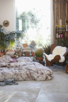 A cozy retreat! Who wouldn't love to curl up in that space with a book? | Home wear at Urban Outfitters US