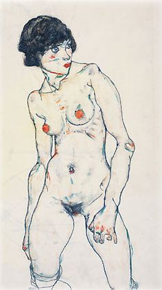 Nude by Egon Schiele: Austrian Expressionist Painter (1890-1918). http://vi.sualize.us/view/8a51785b38dc0b94ada0424761fdff24/