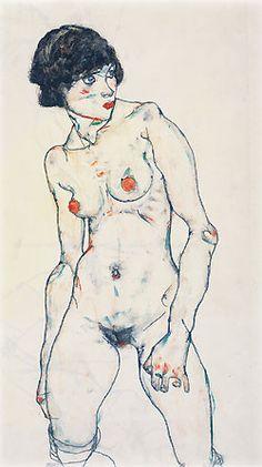 Nude by Egon Schiele: Austrian Expressionist Painter (1890-1918). http://vi.sualize.us/view/8a51785b38dc0b94ada0424761fdff24/