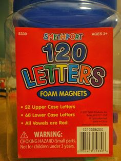 Foam Magnetic Letters for moveable alphabet and fridge game