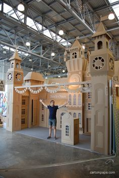 Old city street from cardboard. #innovative #creative #booth