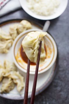 These pork potstickers with a chilli dipping sauce are filling, tasty, & easier than you think! Use premade dumpling wrappers to be ready in under an hour. Asian Cooking, Fun Cooking, Cooking Recipes, Appetizer Dips, Appetizer Recipes, Dinner Recipes, Chicken Pork Recipe, Slow Cooker Brisket, Dumpling Wrappers