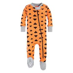 Cloud Bee Organic Zip Up Footed Baby Halloween Pajamas 989102424