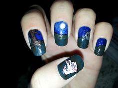 Hand scary halloween nail art