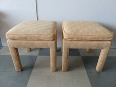 Pair Of Mid-Century Modern Parsons Benches/Stools, In The Manner Of: Milo Baughman. by FLORIDAMODERN on Etsy