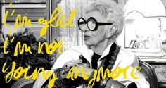 Exclusive: Watch as Iris Apfel Reveals How She Got Her Trademark Glasses and Wonders Why People Are So 'Nosy'. L'Oreal Paris is doing a series of video interviews called Hairspray Confessions in honor of its long-time cult favorite hairspray, Elnett. Derek Bla