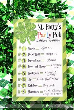 Darling Menu for a fun St. Patrick's Day meal with the family... and it's FREE!