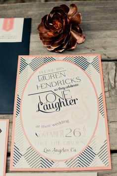 pattern wedding invite