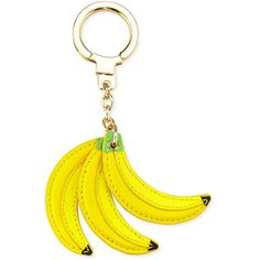 kate spade new york bananas key fob (67 AUD) ❤ liked on Polyvore featuring accessories, multi, kate spade key chain, kate spade, fob key chain and leather key chain