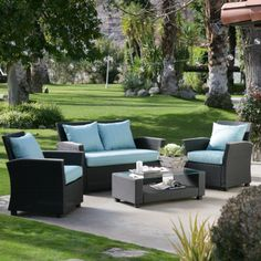 Delphi All Weather Chocolate Wicker Conversation Set - Conversation Patio Sets at Hayneedle