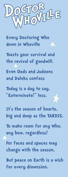 Dr. Seuss meets doctor who <3