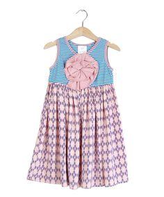 c44a39a71d79 Loving this Light Pink   Blue Geometric Babydoll Dress - Girls on