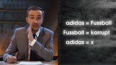 Böhmermann deckt auf: Was adidas mit Fußball zu tun hat