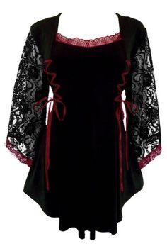 Dare To Wear Victorian Gothic Women's Plus Size Anastasia Corset Top Black/Burgundy S Dare to Wear http://smile.amazon.com/dp/B00DJ7F95W/ref=cm_sw_r_pi_dp_ELBStb0QMRZNEQCE