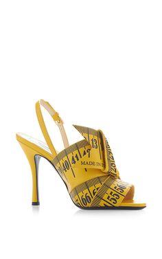 Measuring Tape Sandal by #Moschino for Preorder on Moda Operandi