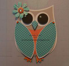 Ink It, Stamp It Owl Card using the Artiste Cricut cartridge.