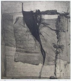 Takahiko Hayashi ~ L-D-4, 1983 (etching, chine collé)