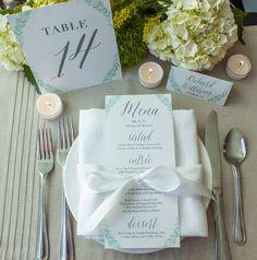 Menu di nozze tabella numero ed Escort Cards di SEdesignltd, $260.00