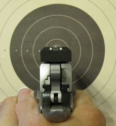 The major keys to aiming and effective target hits are to properly align your sights, get the proper sight picture, and keep your properly aligned sights o