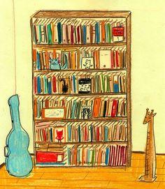 Etiqueta #bibliotecasdibujadas Maria Luque