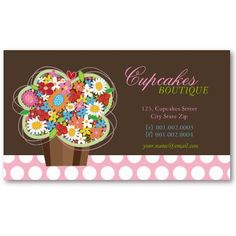 Logo And Business Card Design Personalized Blankets From Roclith - Cupcake business card template