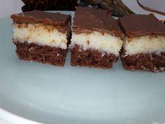 Bounty- prajitura cu nuca de cocos si ciocolata - NoiInBucatarie Desserts, Food, Tailgate Desserts, Deserts, Essen, Postres, Meals, Dessert, Yemek