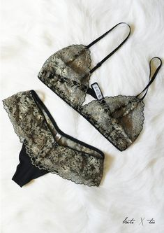 Kate X Tee - Frenchie Lace Bralette and Knicker