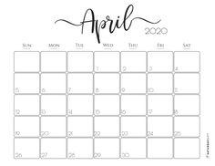 Elegant 2020 Calendar May - free printables Calendar For April, Cute Calendar, Kids Calendar, 2019 Calendar, Calendar Ideas, Excel Calendar, Printable Calendar Pages, Printable Blank Calendar, Printable Planner