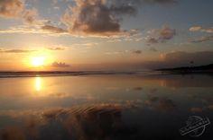 Beautiful Sunset at the Beach in Kuta on Bali, Indonesia