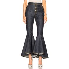 Ellery Hysteria Jeans (49.550 RUB) ❤ liked on Polyvore featuring jeans, e l l e r y, fake jeans, button fly jeans and faux-leather jeans