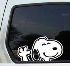 Snoopy Waiving window decal sticker 5 Inch