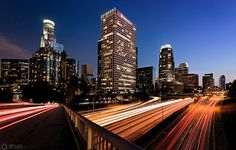 Fine art landscape prints of Los Angeles by professional British photographer Graham Gilmore using techniques such as HDR and Long Exposure. Los Angeles Sunset, Downtown Los Angeles, Seattle Skyline, New York Skyline, Illustrations Médicales, Life Moves Pretty Fast, Willis Tower, Photos, Pictures