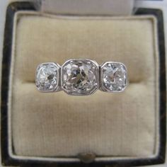 Three Stone Diamond Ring- the case it's in is gorgeous!