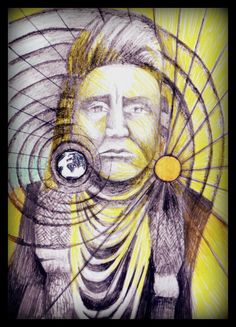 Nothing beats a hand-draw photo of your favorite chief... Chief Joseph by Szibilla Margó Bakó