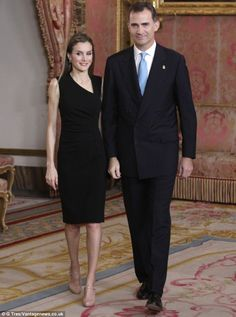 Crown Prince Felipe and Princess Letizia of Spain attended a meeting with members of the Patronage of the Prince of Asturias Foundation at t...