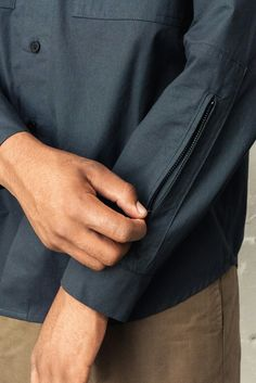 berkhan detail cut hand zip
