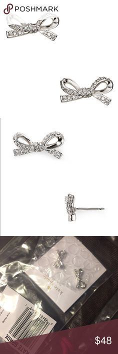 Kate Spade Pave Bow Studs - Skinny Mini Gorgeous delicate design; brand new in packaging. Perfect gift for your special someone. Sold out!!! No trades. kate spade Jewelry Earrings