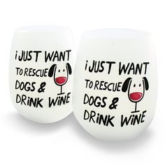 Amazon.com | Unbreakable Wine Glasses | Set of 2 | 100% Silicone | Rescue Dogs & Drink Wine | Helps Feed Shelter Dogs!: Wine Glasses