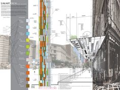 The S/M/ART_DECK system is a simple, modular*, materially efficient, and standardized yet flexible system that anticipates future innovation. Utilizing existing scaffolding structure to re-define the sidewalk as a set of urban experiences, the S/M/ART_DECK is deployed through an act of local coding which defines the sidewalk as four distinct ZONES. Modules are inserted on an as-needed basis in direct response to local conditions. Every installation thus becomes an index of the existing site.