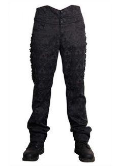 Devil Fashion Mens Gothic Oberon Trousers