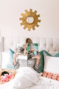 Pajamas: Kate Spade | Bedding: Listed Here Photography by: Angie Garcia P.S. Who spots Maxi in the photos?! Love seeing my bump on the blog again! I'm sure it's safe to assume most of us wish we had more free time. Free time to do things like lay in bed, read a magazine, eat a... CONTINUE READING