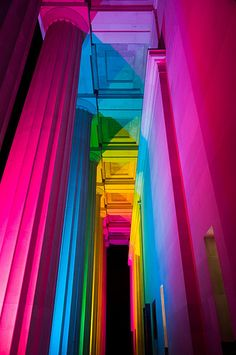 Colored lights. Did you know that the sum of all light colors results in white color?  @La Tinta Aragonesa