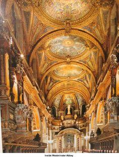 Inside Westminster Abbey, England